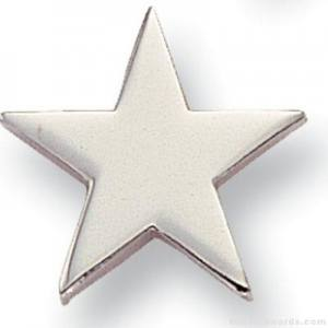 "5/8"" Silver Star Lapel Pin"