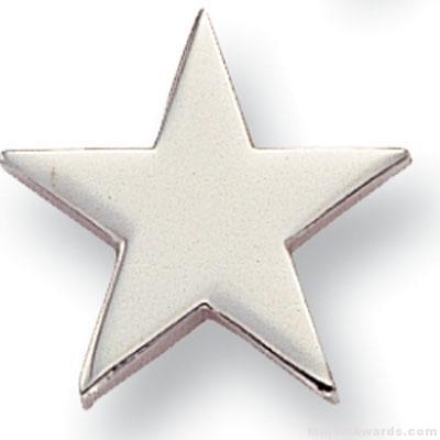 "5/8"" Silver Star Lapel Pin"
