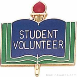 3/4″ Student Volunteer Pin 1