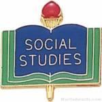 3/4″ Social Studies School Award Pins 1