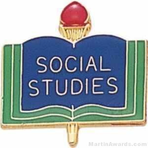 "3/4"" Social Studies School Award Pins"