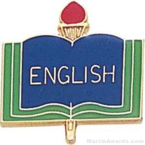 "3/4"" English School Award Pins"