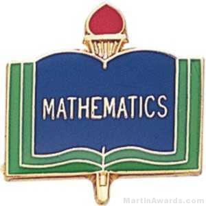 "3/4"" Mathematics School Award Pins"