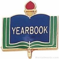 "3/4"" Yearbook School Award Pins"
