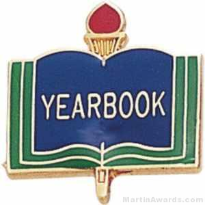 3/4″ Yearbook School Award Pins 1