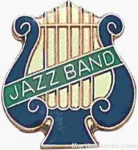 "5/8"" Enameled Jazz Music Pin"
