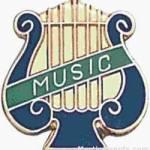5/8″ Enameled Music Pin 1