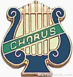 5/8″ Enameled Chorus Music Pin 1