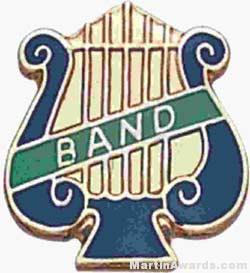 "5/8"" Enameled Band Music Pin"