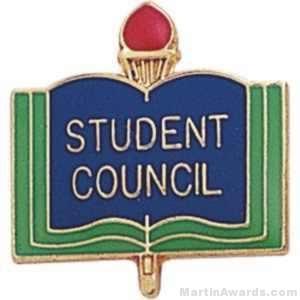 "3/4"" Student Council School Award Pins"