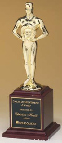 Cast Metal Achiever on Rosewood Piano Finished Base 1