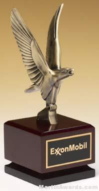 Eagle Award - Bronze Eagle on Mahogany and Black Finished Hardwood Base